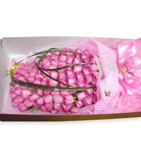분홍장미 100송이 상자