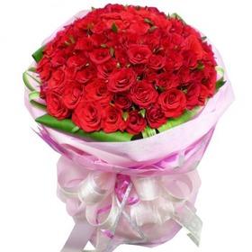 빨간장미 100송이 꽃다발